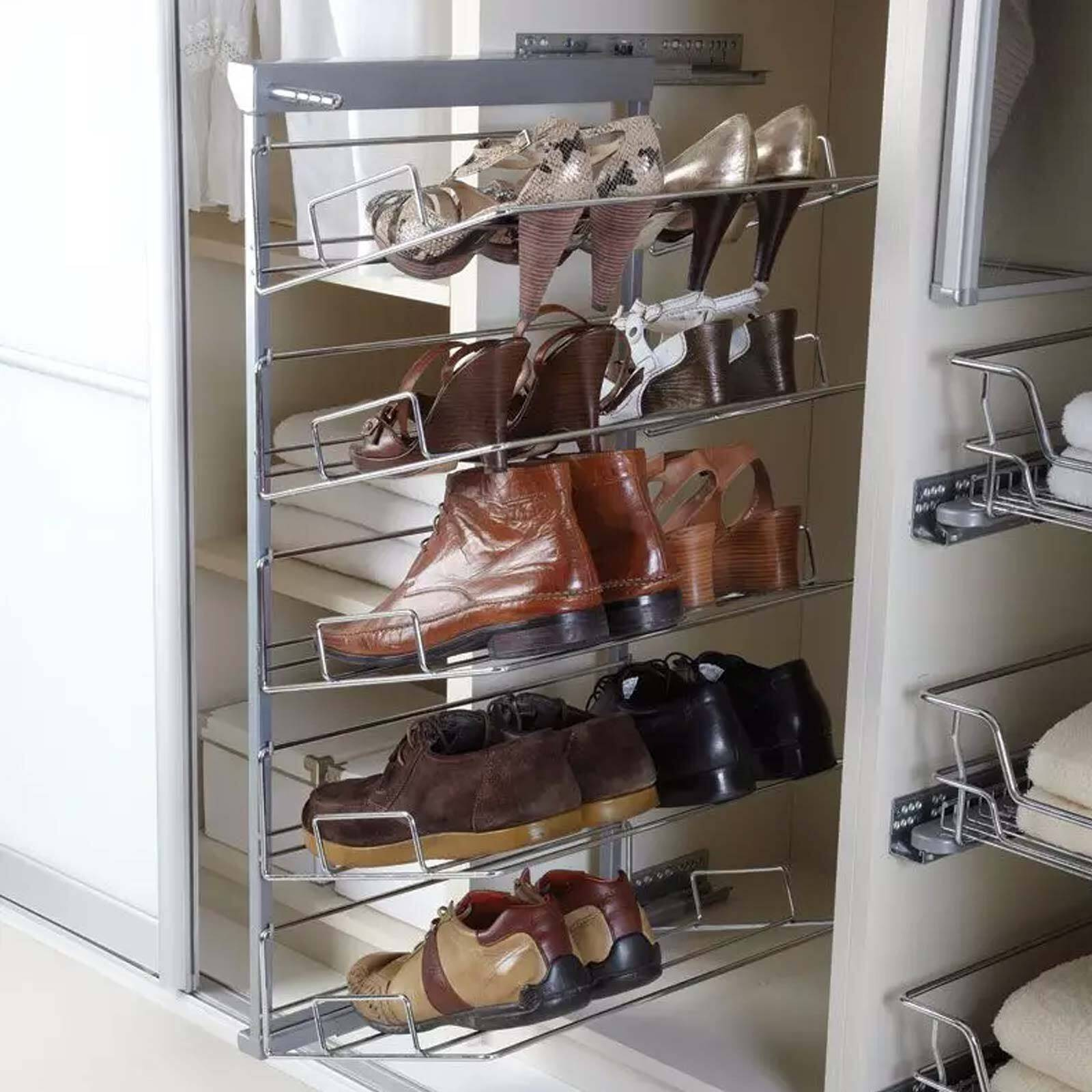 Pull Out Shoe Rack Five Tier Pull