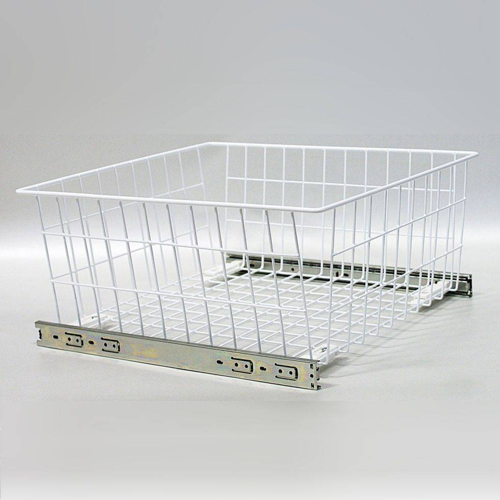 Wardrobe MD Pull out Wire Baskets in White