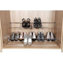 Telescopic Shoe Rack - picture shows 3 items installed