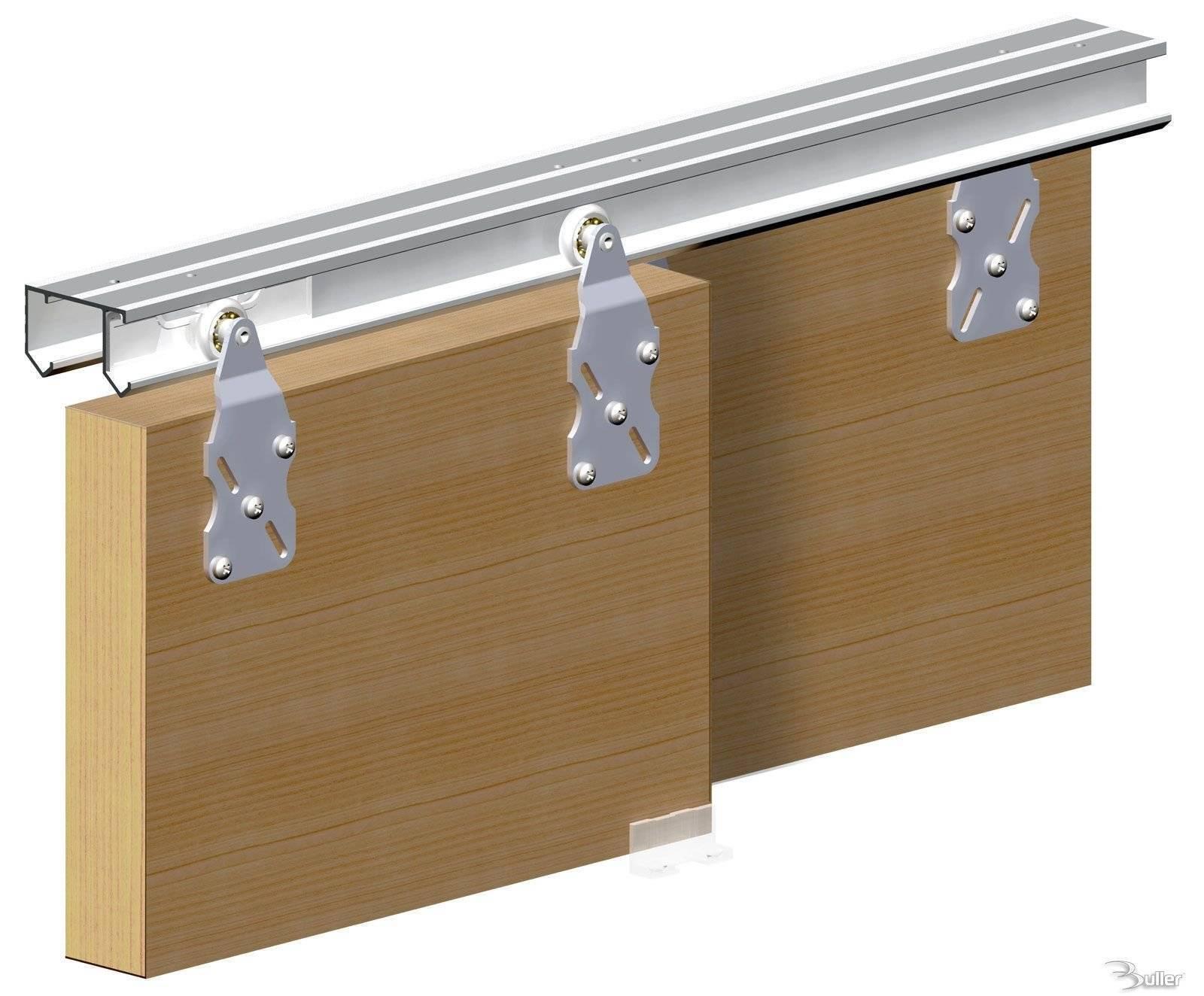 Sliding Door Track : Horus top hung sliding door system wardrobe track kit